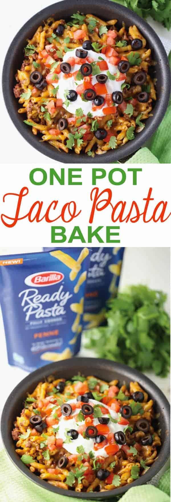 One Pot Taco Pasta Bake