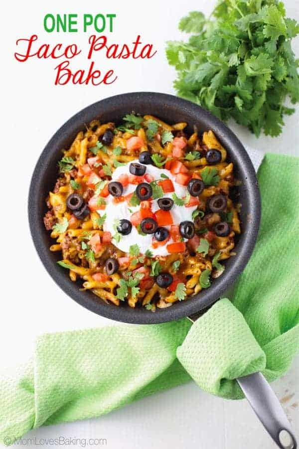One Pot Taco Pasta Bake