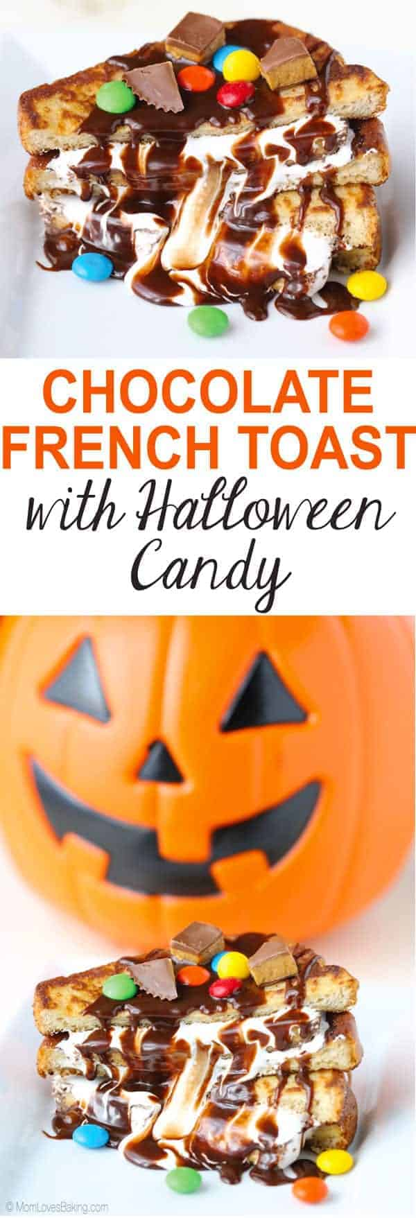 Chocolate French Toast Sandwich with Halloween Candy