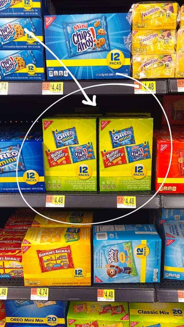 Nabisco multi-packs at Walmart