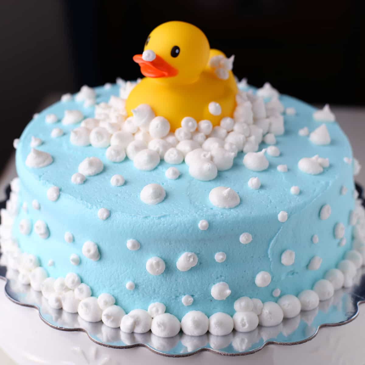 Rubber Ducky Baby Shower Cake Mom Loves Baking