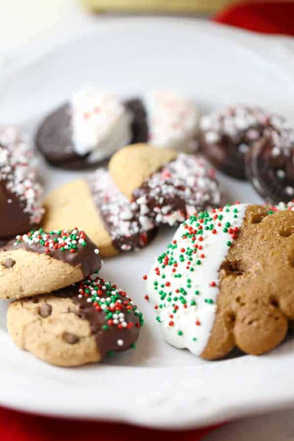 Easy Chocolate Dipped Peppermint Cookies
