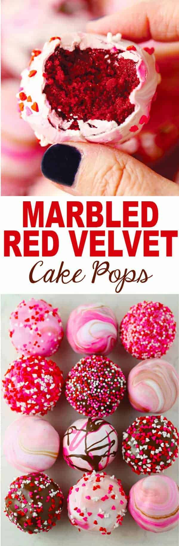Marbled Red Velvet Cake Pops