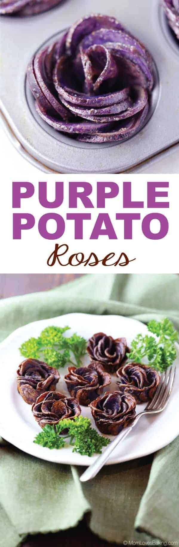 Purple Potato Roses