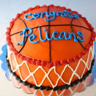 Wacky Chocolate Basketball Theme Cake