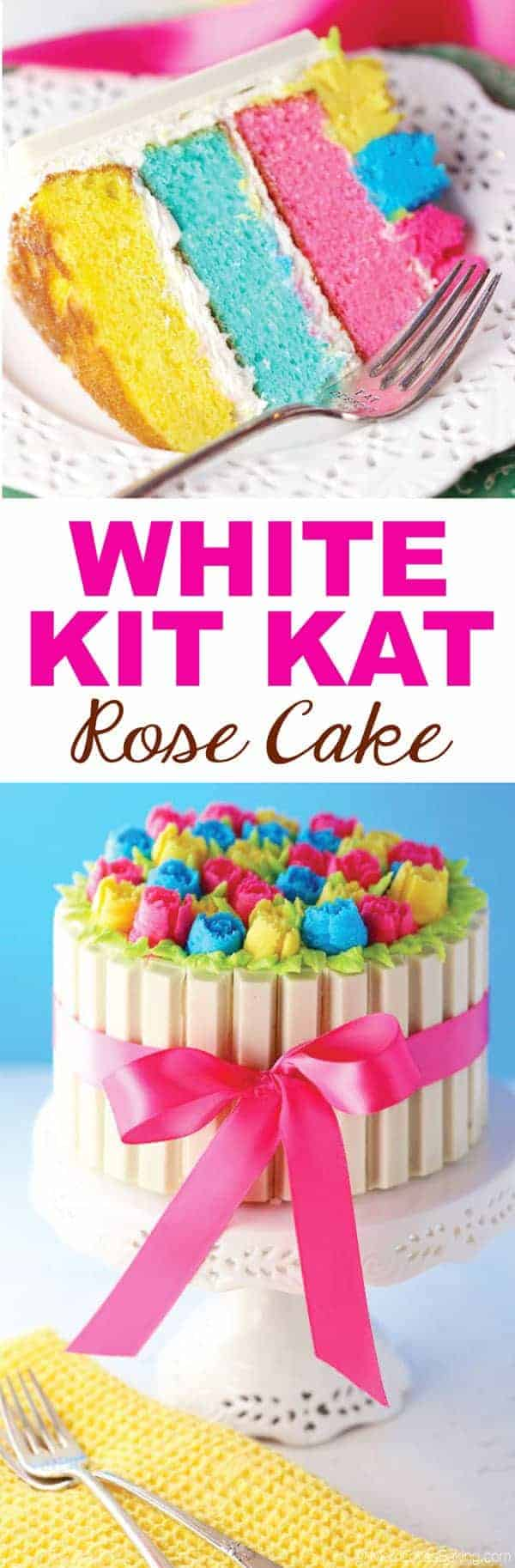 Magnificent White Kit Kat Rose Cake Mom Loves Baking Funny Birthday Cards Online Fluifree Goldxyz