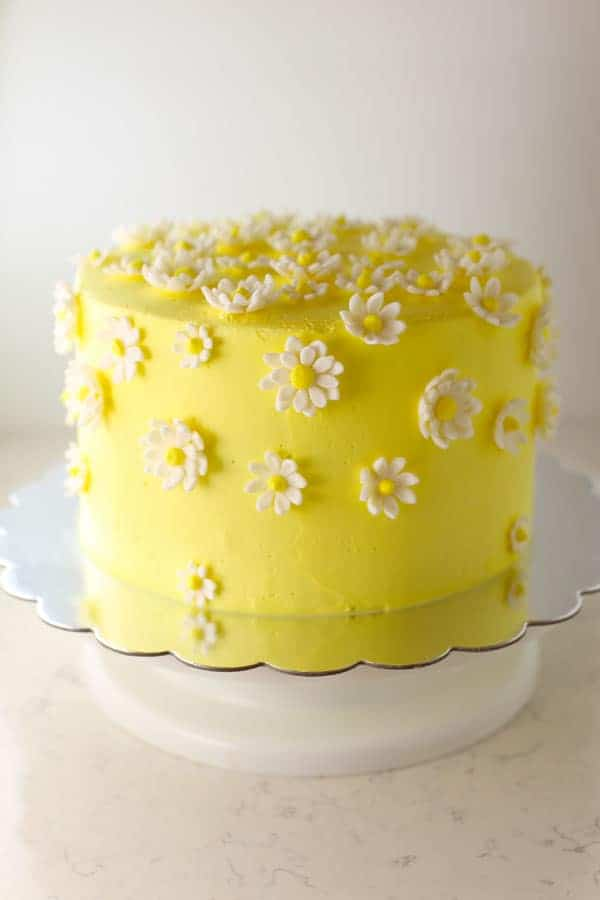 Daisy Cake with Tie Dye layers