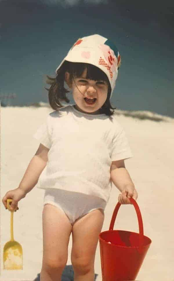 Little girl at Grayton Beach in 1967