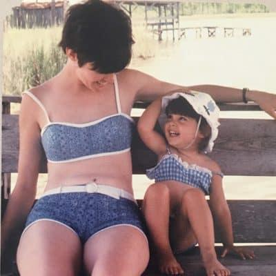Me and mom at Grayton Beach Florida 1969