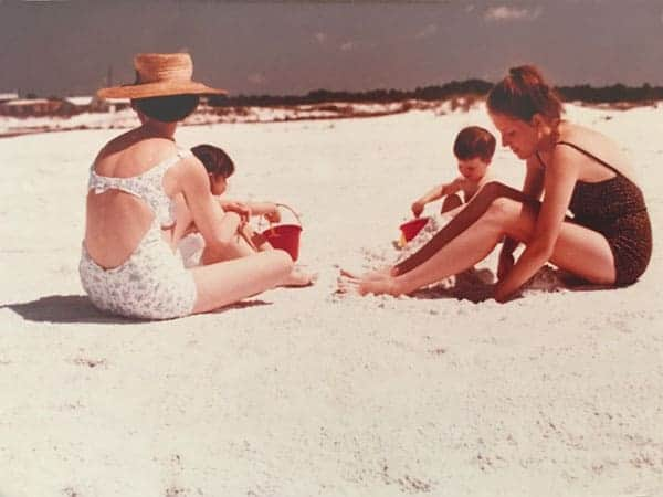 Family at Grayton Beach in 1967