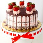 Sugar Free Gluten Free Chocolate Strawberry Cake