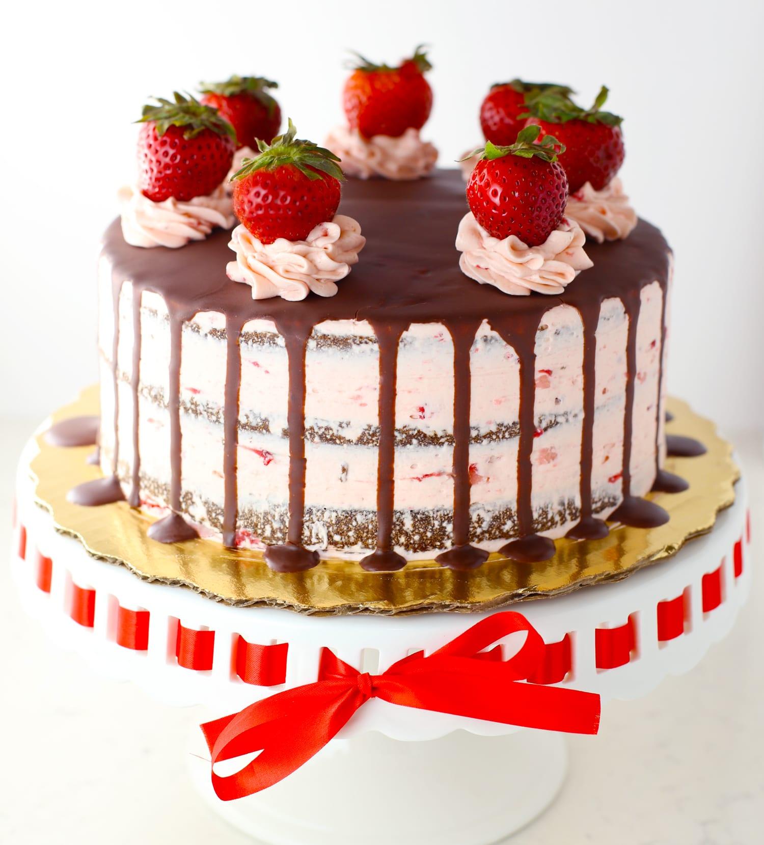 Chocolate & strawberry decor cake | Decorating Cakes ... |Strawberry Cake Decoration