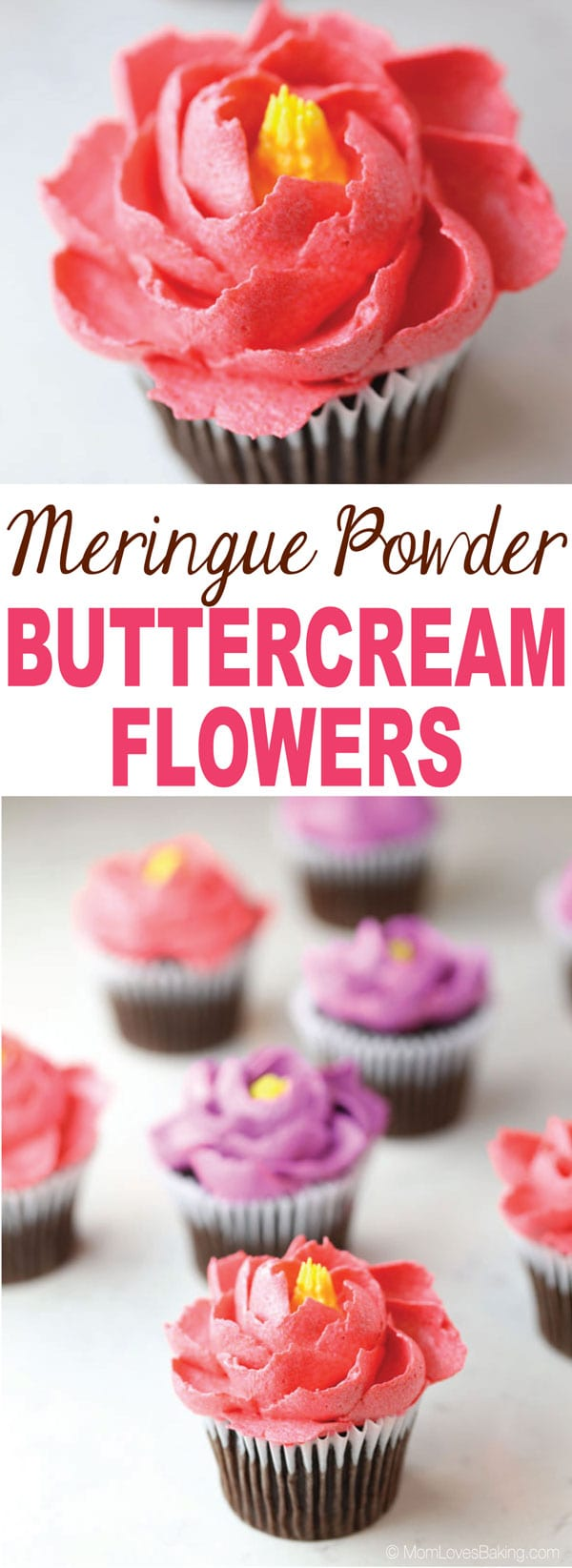 Meringue Powder Buttercream Flowers