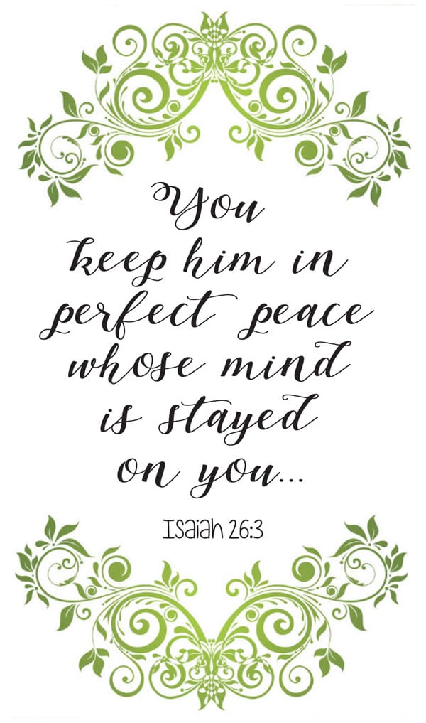 Bible verson about perfect peace
