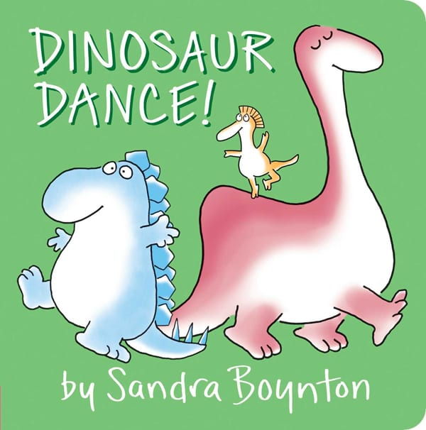 dinasour dance board book for babies