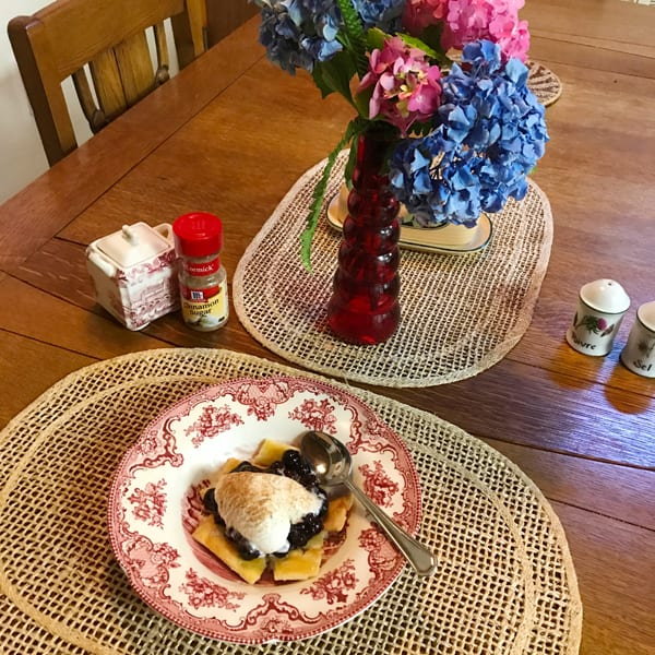 Grandmother's blueberry pie