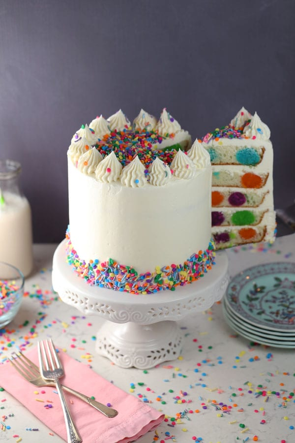 Happy Birthday Polka Dot Cake
