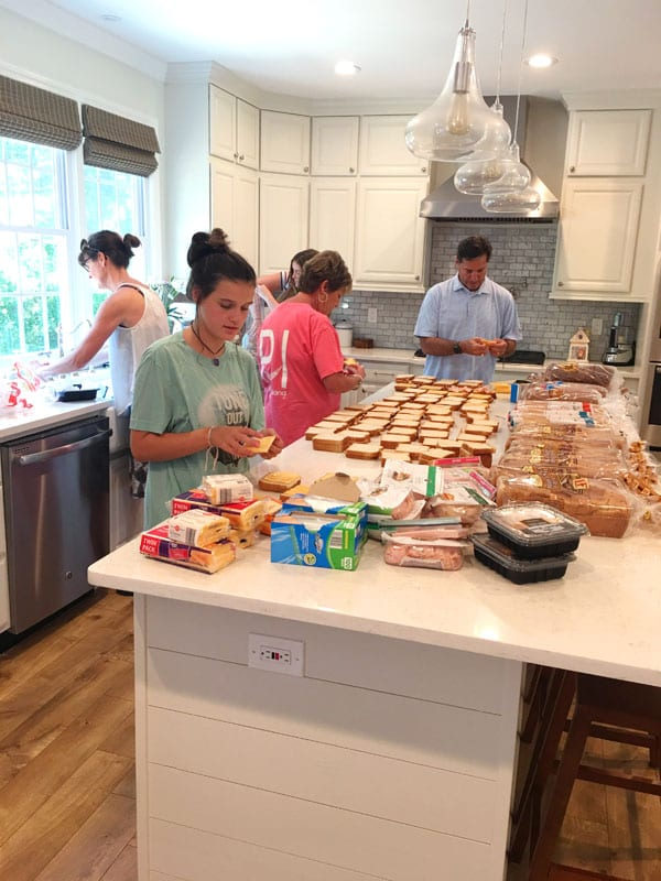 Making Sandwiches for Must Ministries to feed hungry kids in Atlanta.
