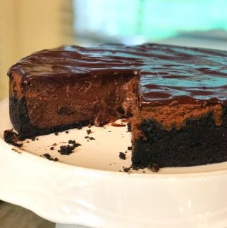 Ultimate Triple Chocolate Ganache Cheesecake