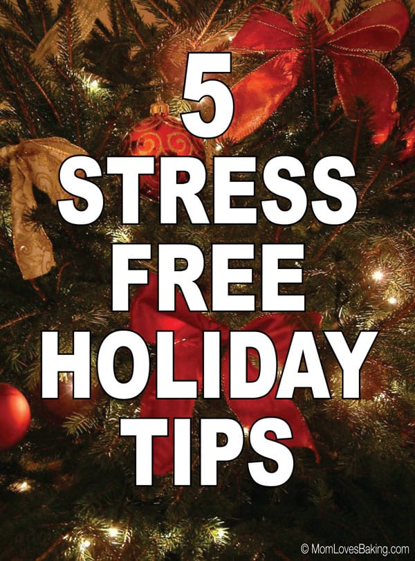 5 tips for a stress free holiday season