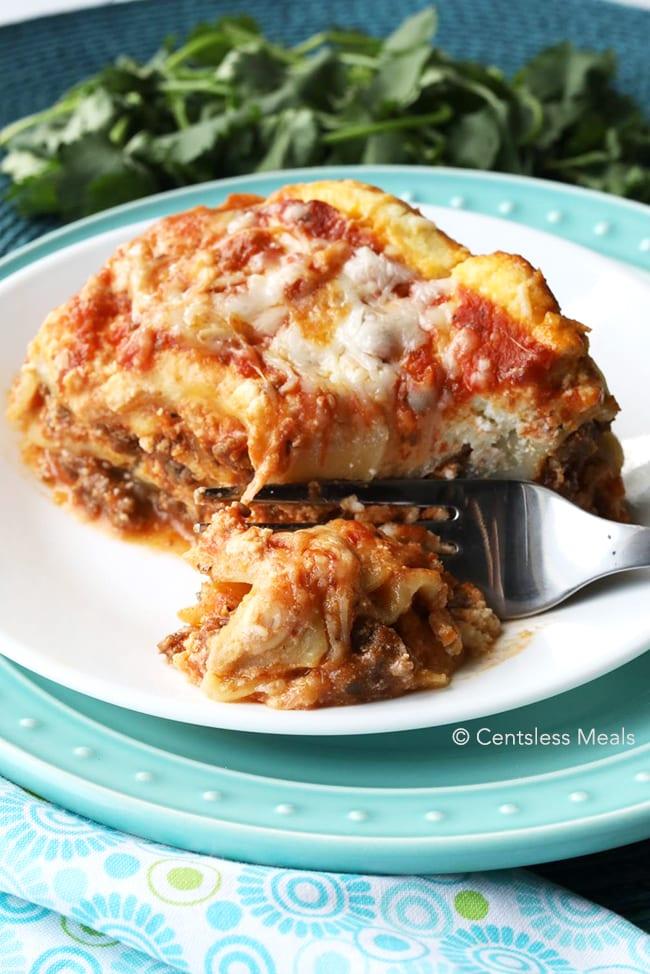 Crock pot slow cooker lasagna