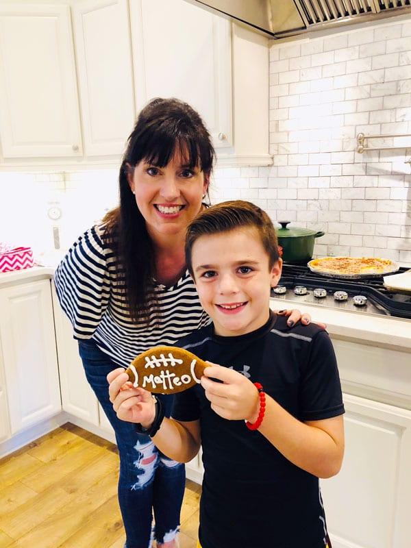 Football Shaped Gingerbread Cookies