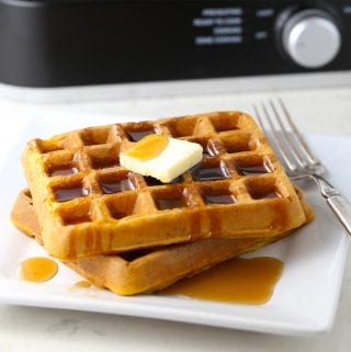 Mom's Easy Pumpkin Spice Waffles