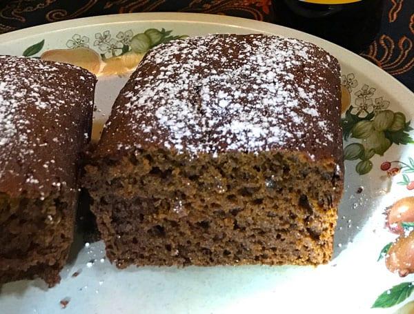 Nana's gluten free pumpkin gingerbread cake
