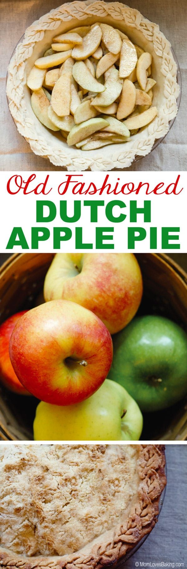 Old fashioned dutch apple pie