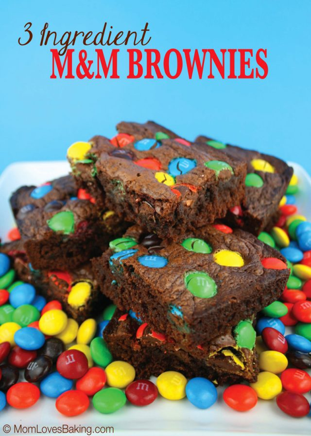 3-ingredient m and m brownies