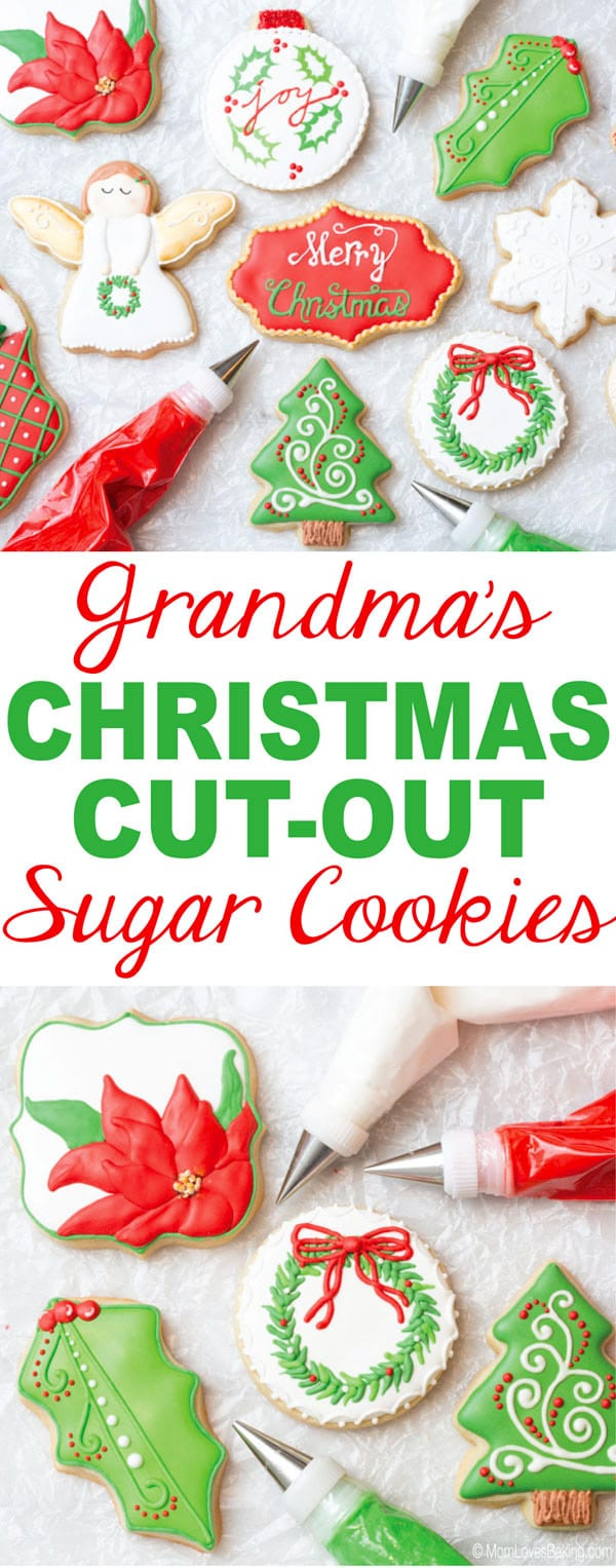 Grandma's Christmas Cutout Sugar Cookies
