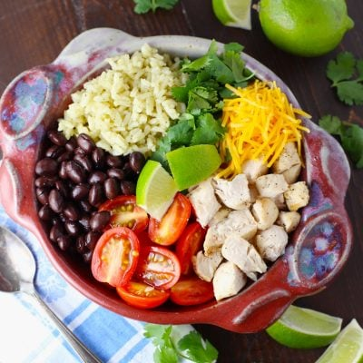 Grilled Chicken Cilantro Lime Rice Bowl