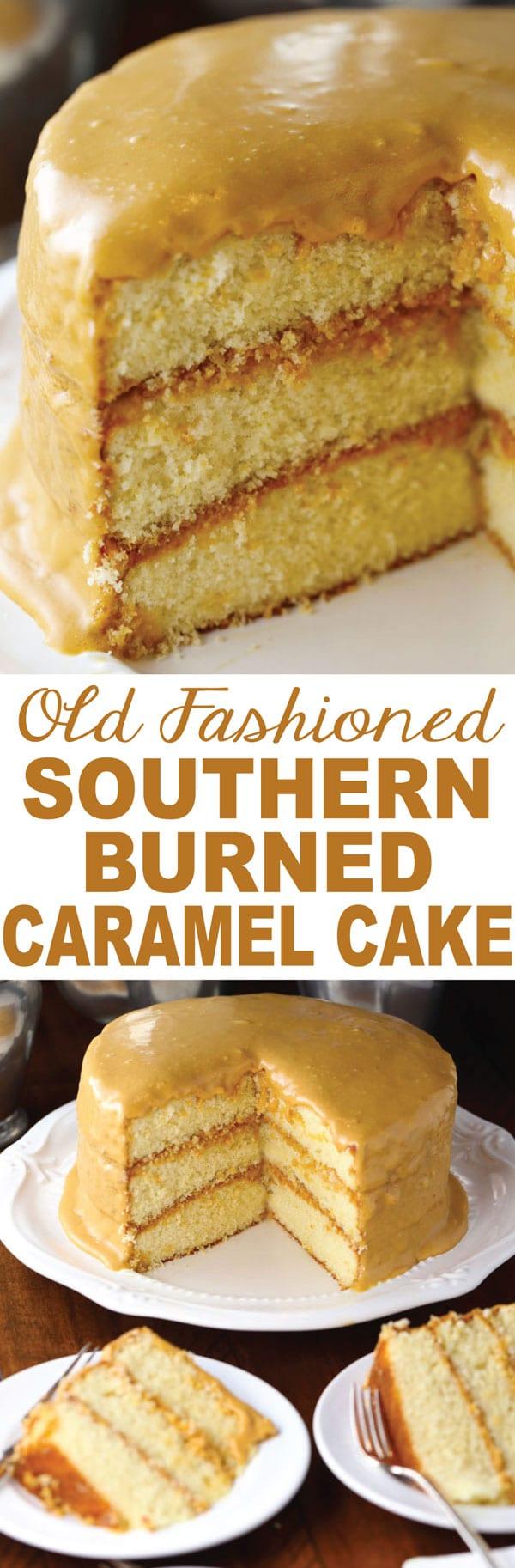 Old Fashioned Southern Burned Caramel Cake