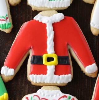 Ugly Sweater Christmas Cutout Sugar Cookies