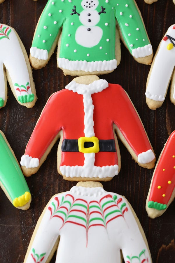 Ugly Sweater Christmas Cut-Out Sugar Cookies