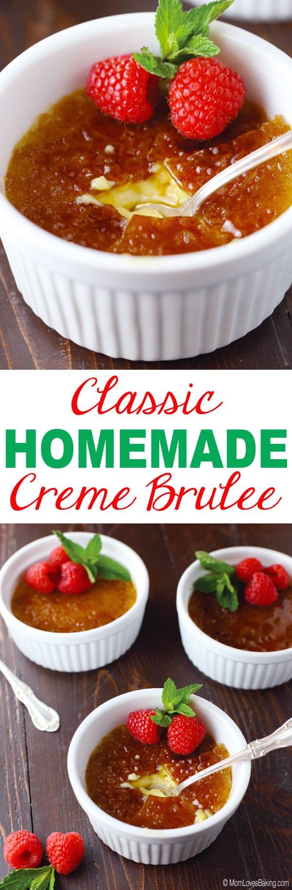 Classic Homemade Crème Brûlée