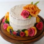 Naked Lemon Cake with Fresh Flowers