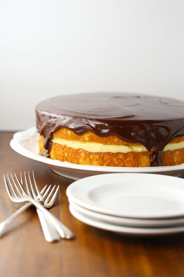 Boston Cream Pie Birthday Cake