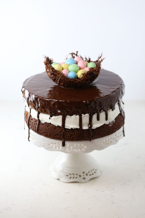 Chocolate Easter Egg Nest Ding Dong Cake