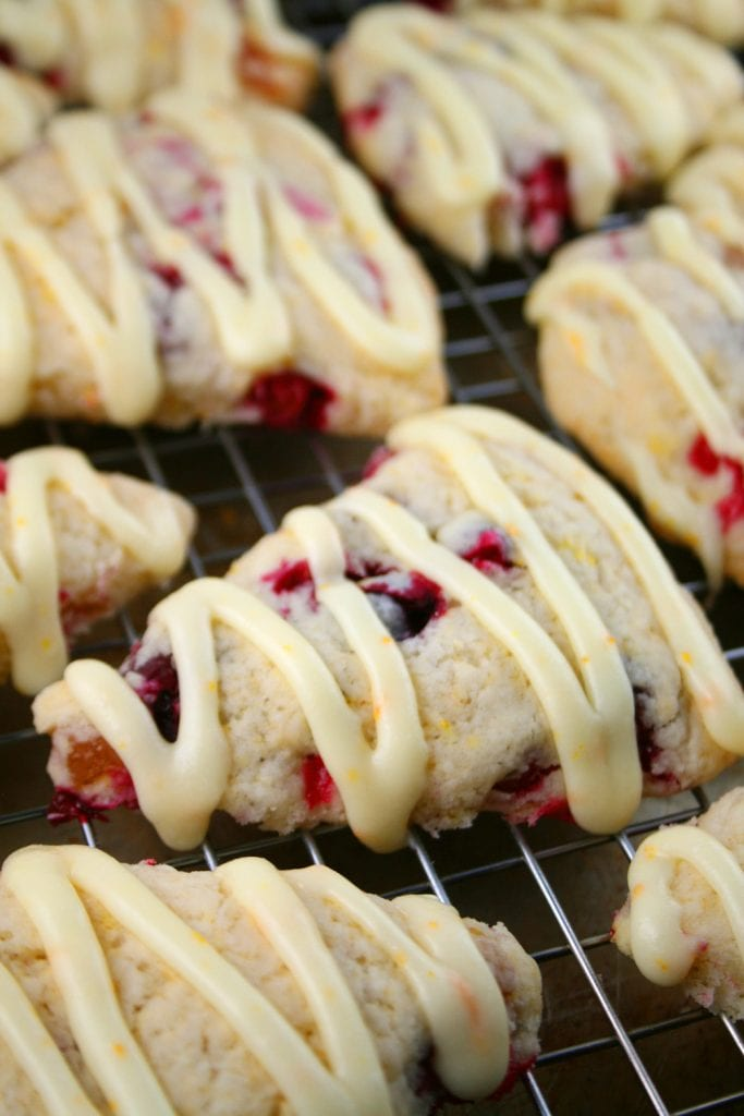 Orange Glazed Cranberry Scones