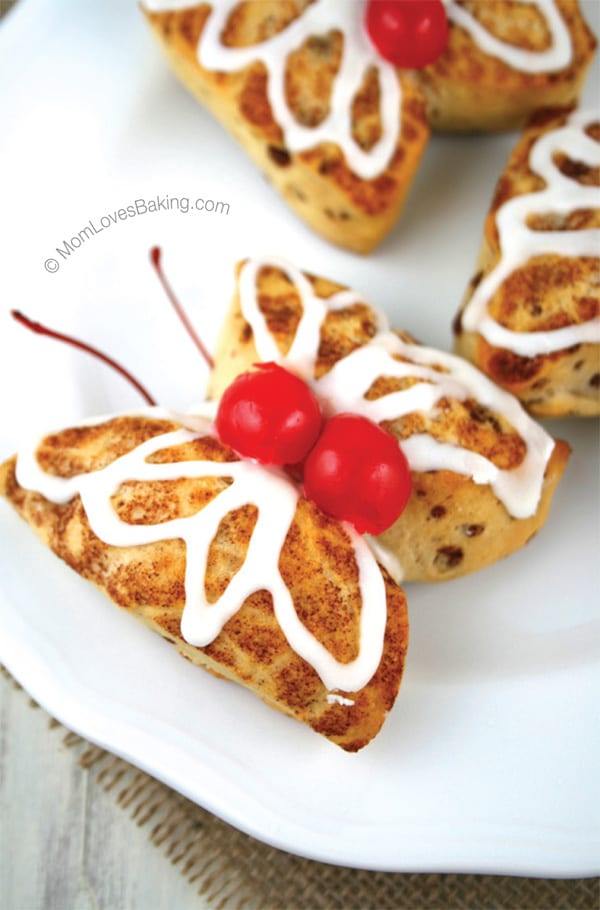 Cinnamon roll butterflies
