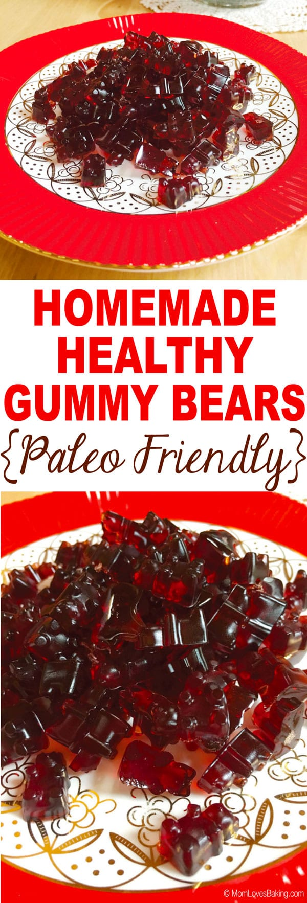 Homemade Healthy Gummy Bears Paleo Friendly