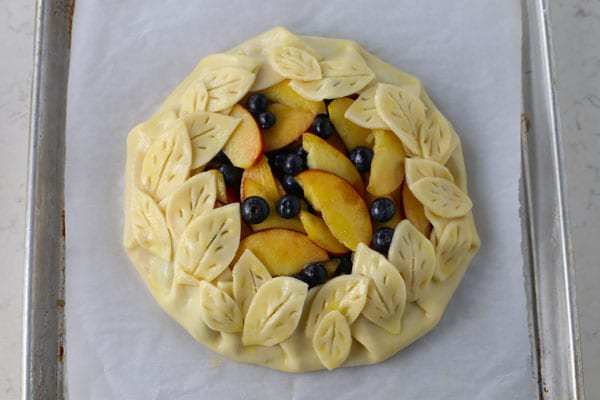 Rustic Honey Peach and Blueberry Galette