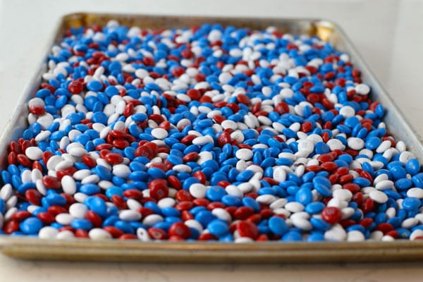 Red White And Blue M M S Candy Cake Mom Loves Baking
