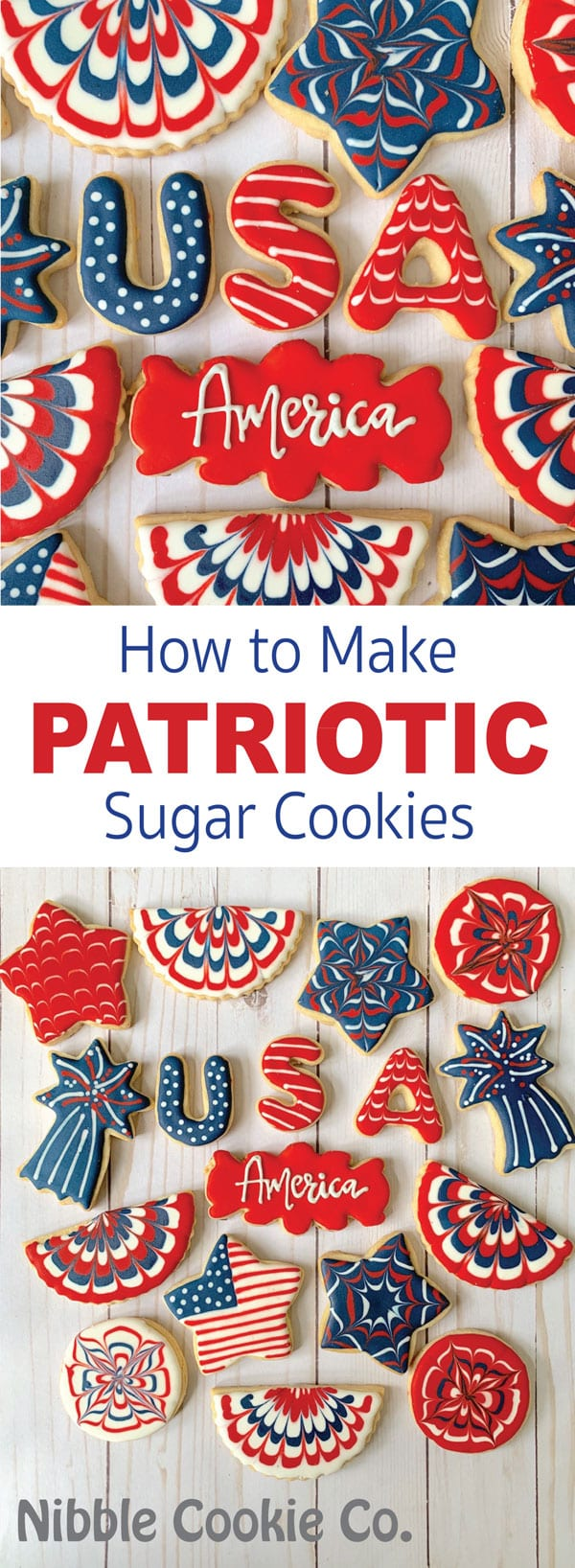 How to make patriotic sugar cookies for july 4th