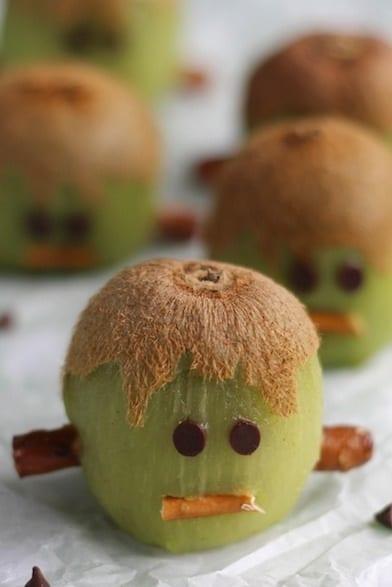 Frankenstein kiwi snacks