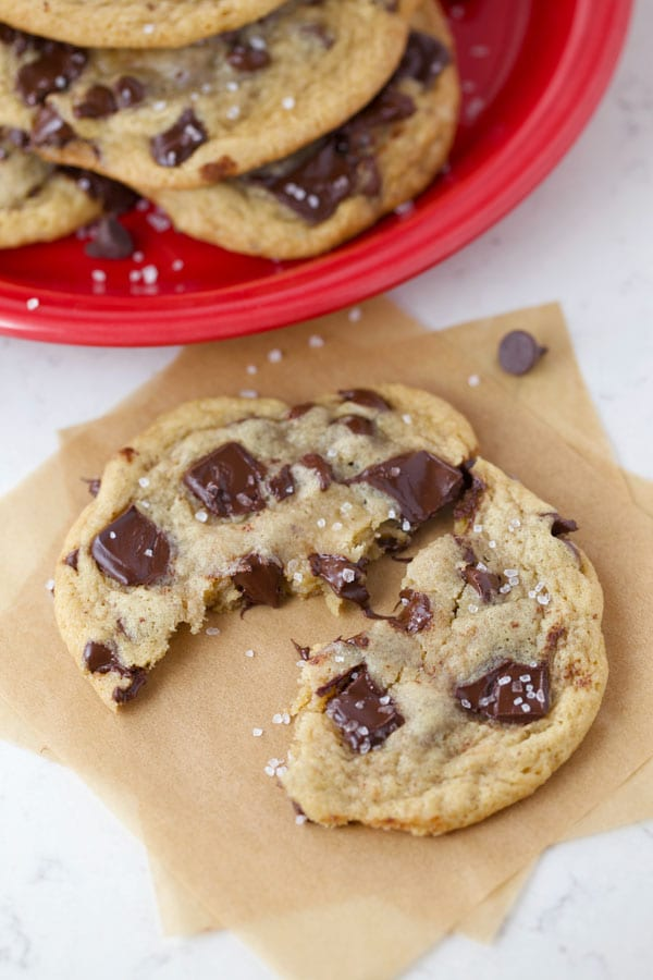 Ooey gooey chocolate chip cookie