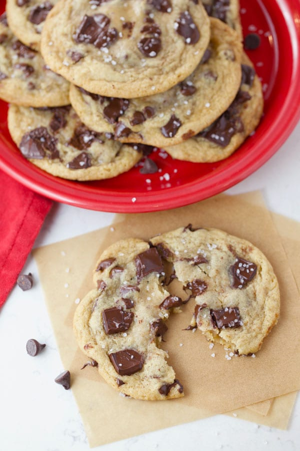 Brown butter chewy chocolate chip cookies