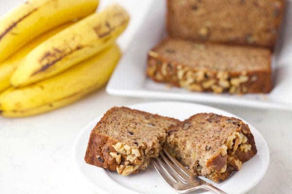 Slice of paleo banana bread