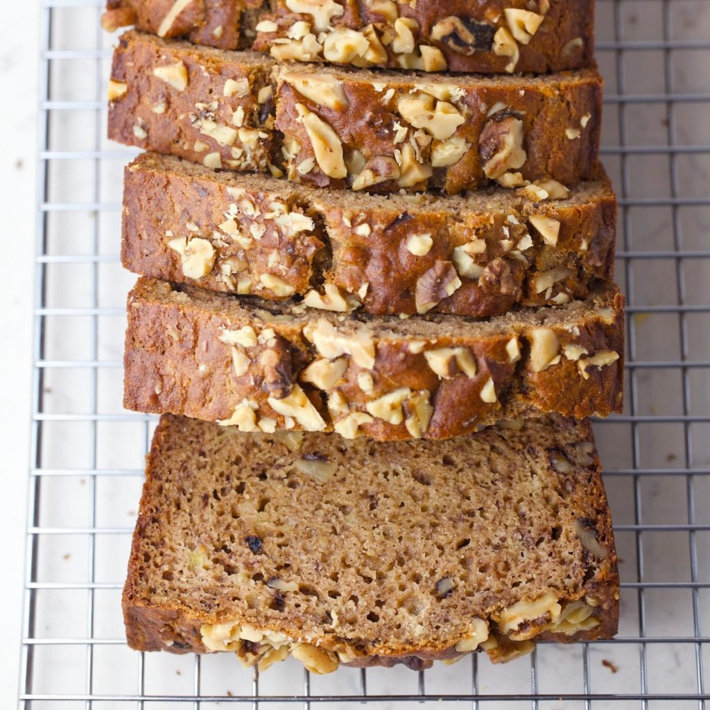 Paleo banana bread image for pinterest